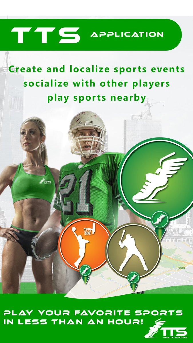 Play your favorite sports in less than an hour!  http:// app.timetosports.com  &nbsp;   #Sports #Activities #Fun #TimeToSports #TTS <br>http://pic.twitter.com/8MH2V3I30o