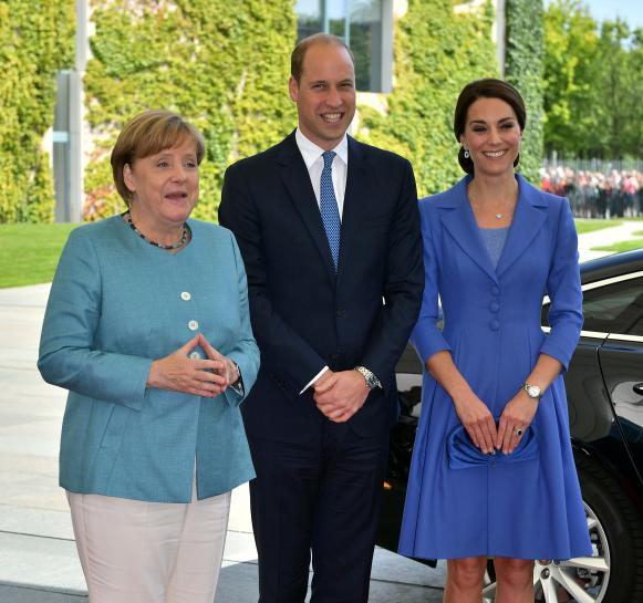 "AnySource News On Twitter: ""William And Kate Meet Merkel"