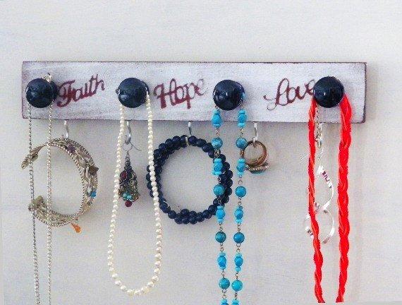Faith Hope Love Jewelry Organizer...Inspirational Necklace…  http:// etsy.me/2saMjlu  &nbsp;   #decorativeknobs #JewelryStorage<br>http://pic.twitter.com/pAx7yGGoUk