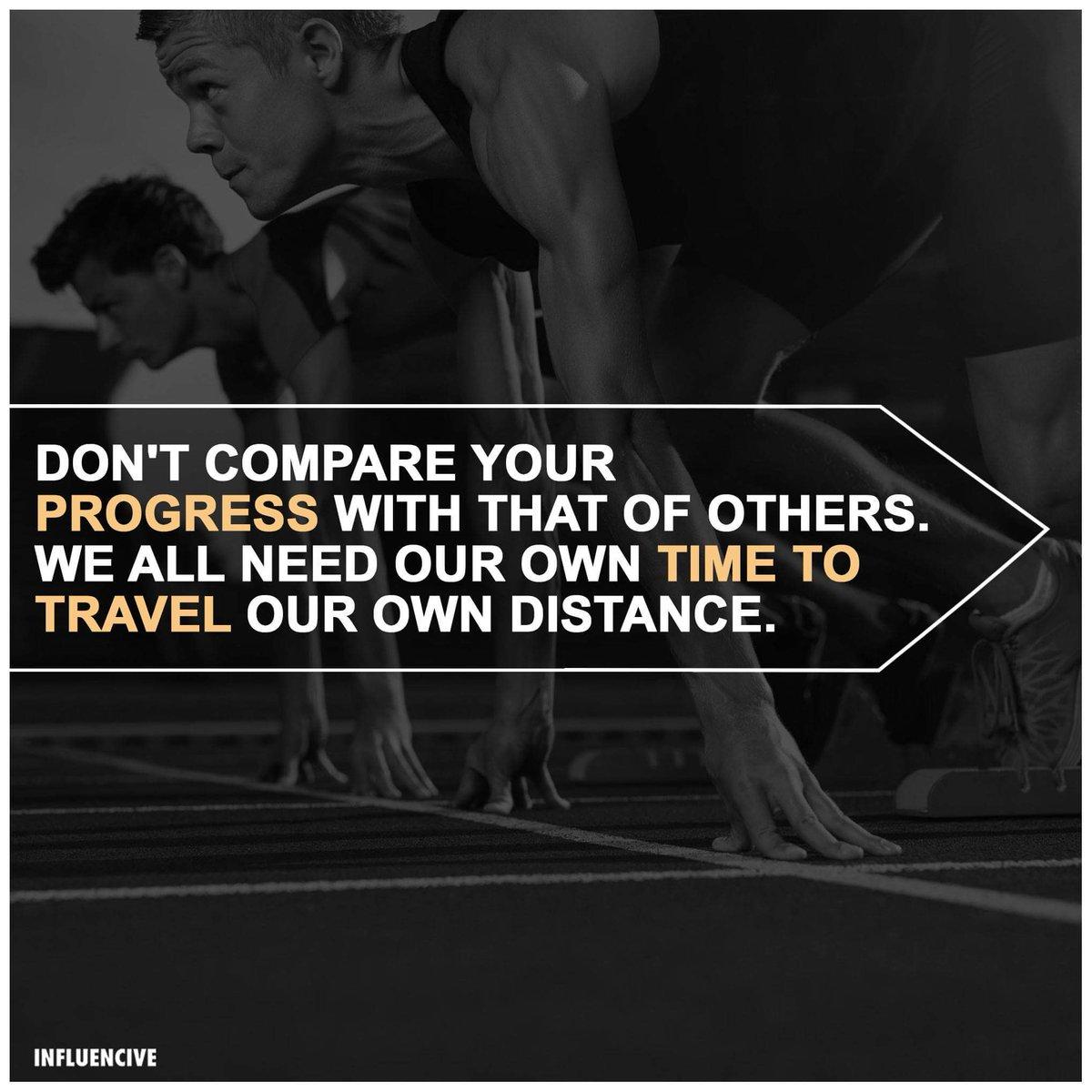 Don&#39;t compare your progress..... #SuccessTrain #defstar5 #Mpgvip #IQRTG #spdc  #makeyourownlane #SMM  #startups #Entrepreneurs <br>http://pic.twitter.com/LPmDBIWdcx