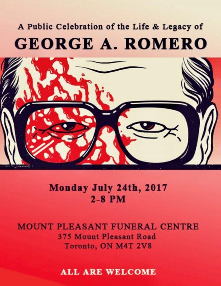 #Monday, we start saying #farewell to our #dear #friend #GeorgeARomero.  I can&#39;t express how much I will miss him. #StayScared #Horror #film<br>http://pic.twitter.com/F4zG5yhDbY