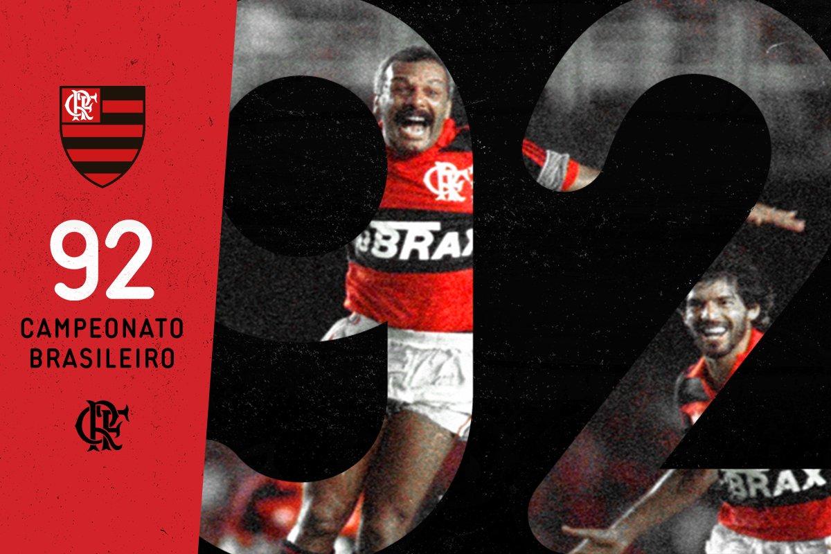 Há 25 anos, o Flamengo conquistava o Pentacampeonato Brasileiro no Maracanã. Histórico e inesquecível! #VamosFlamengo
