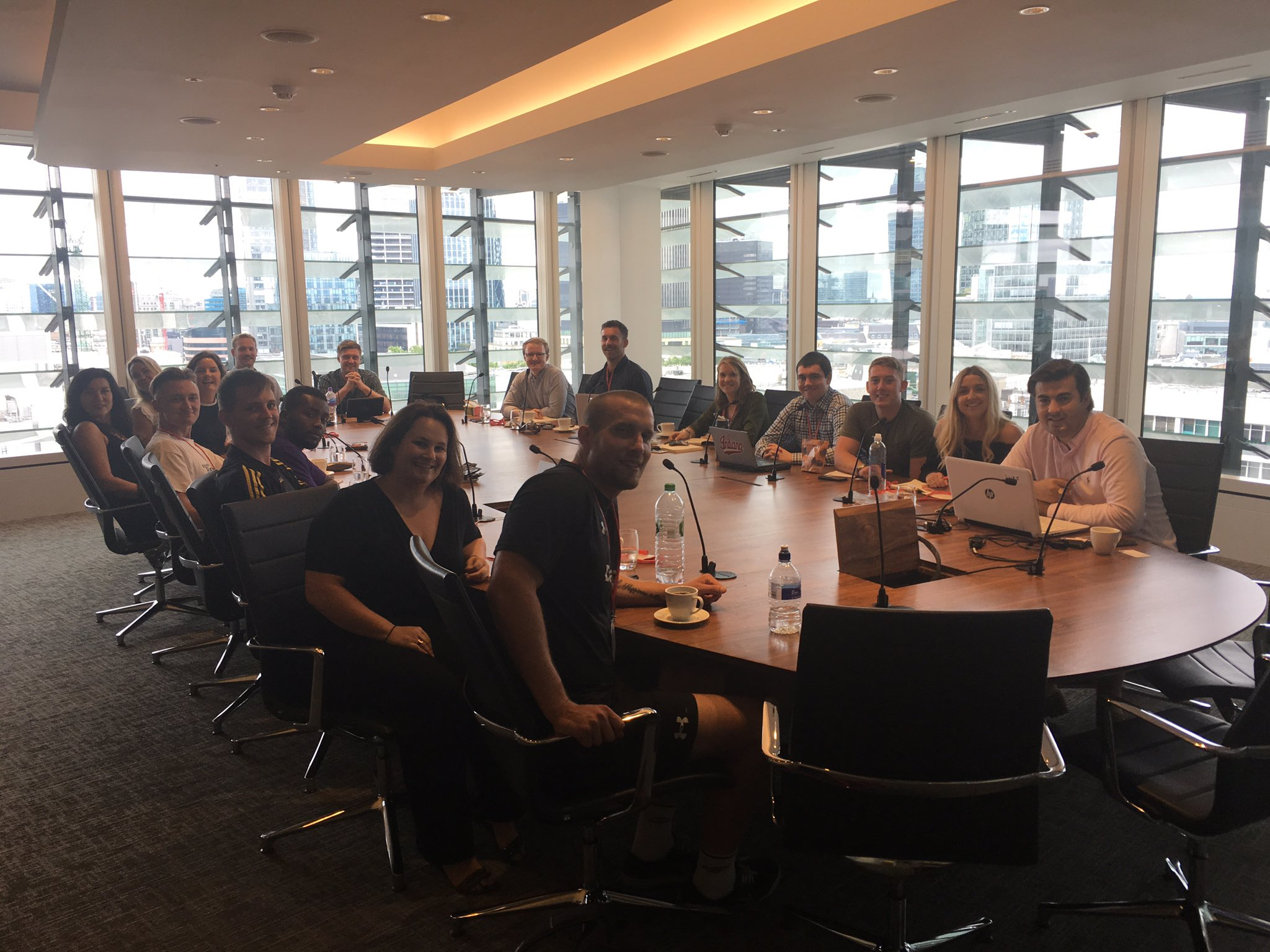 First monthly team meeting with the new London recruits! Next month we'll be even bigger! #RugbyWorks https://t.co/oSAJT1q7RR