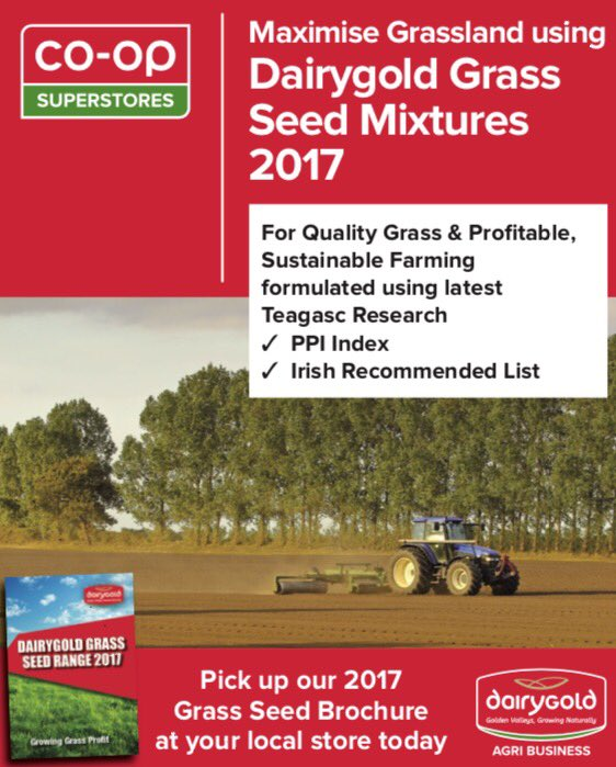 Re-Seeding? Trust Dairygold&#39;s 2017 Grass Seed Mixtures formulated using the latest @teagasc research #reseeding  #grasslandmanagement <br>http://pic.twitter.com/sq26y84GKa