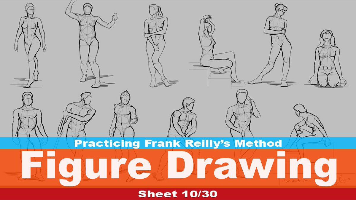 The rain walker on twitter wednesdaywisdom figure drawing sheet 10practicing reillys method for the figure videohttps t co v5okm3jwtx art drawing