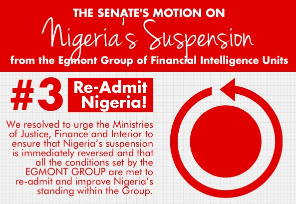 Senate, Wednesday, resolved to pass law to establish a substantive and autonomous NFIU, following the suspension of Nigeria from the EGMONT Group.