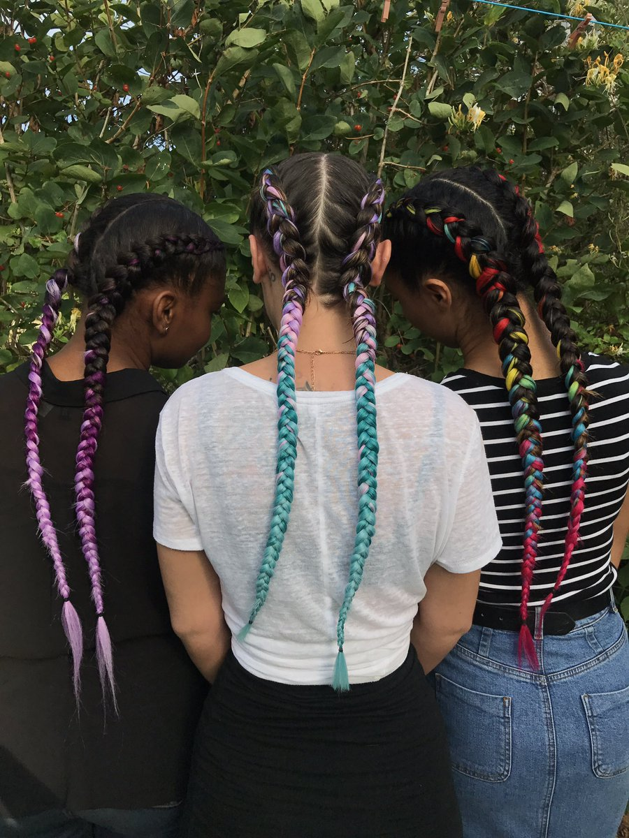 Mates who braid together stay together. These cuties are set for @secretgardenparty  #keashbraids #braids #plaits #festivalready <br>http://pic.twitter.com/x7DEKDxNfI