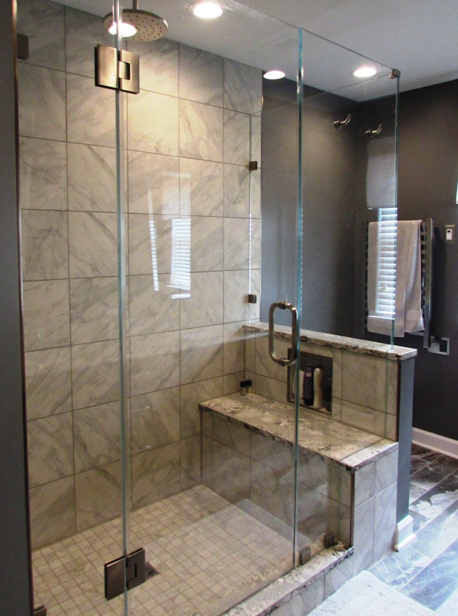Talon Construction Design Build Remodel Company On Twitter Check Out The Shower Bench With A Niche In This Frederick Md Master Bathroom Remodel Bathroomremodel