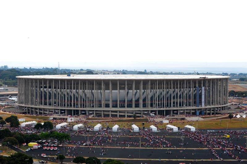 Conta de água no Estádio Mané Garrincha passa de R$ 2,6 milhões em junho.https://t.co/kjxO6grsU0 (📷 Elza Fiúza/Agência Brasil)