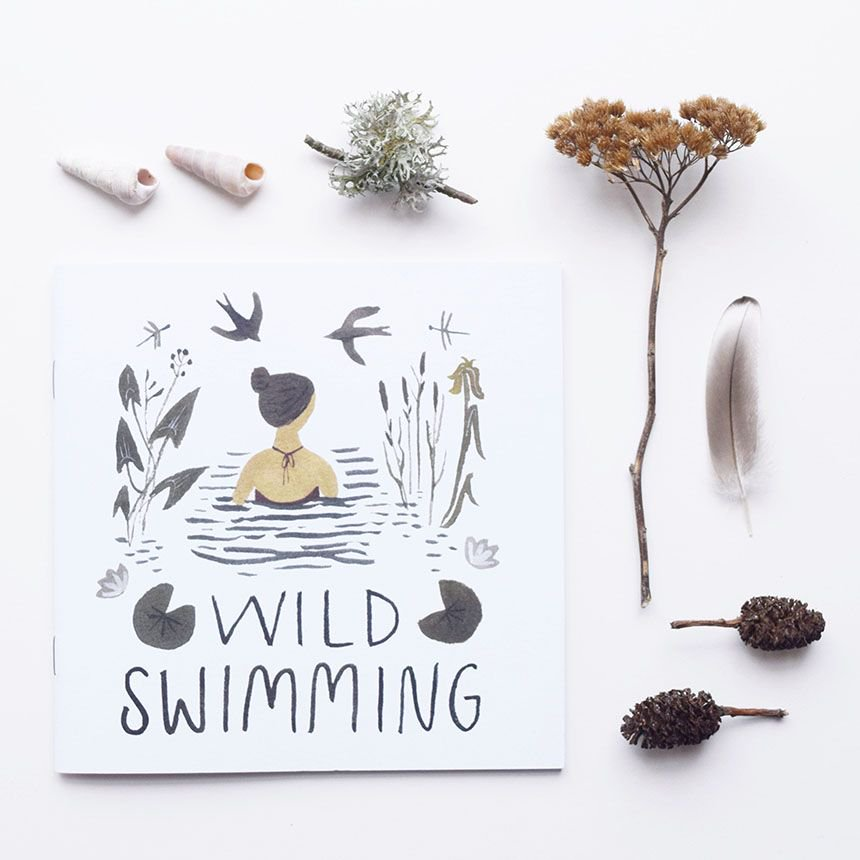 We added this little beauty to our shop. Printed in the UK on 100% recycled paper. #handmadehour #wildswimming  http:// buff.ly/2tGYx4r  &nbsp;  <br>http://pic.twitter.com/xITot9Rn0J
