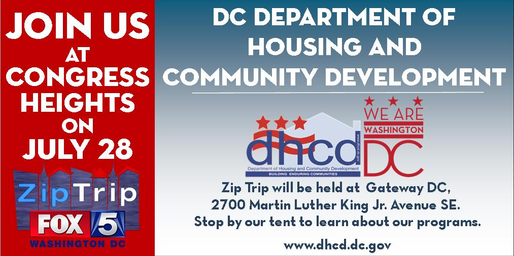 Join us in #CongressHeights #ward8 July 28 for @fox5dc Zip Trip. We&#39;ll have info on  #affordablehousing, #smallbiz #communitydevelopment <br>http://pic.twitter.com/nYX4AHn70B