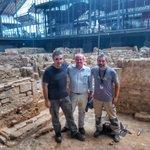 #ArqueoBorn17 Aquesta tarda m'ha fet molta il·lusió la visita d'un dels grans arqueòlegs del país en Jacinto Sánchez