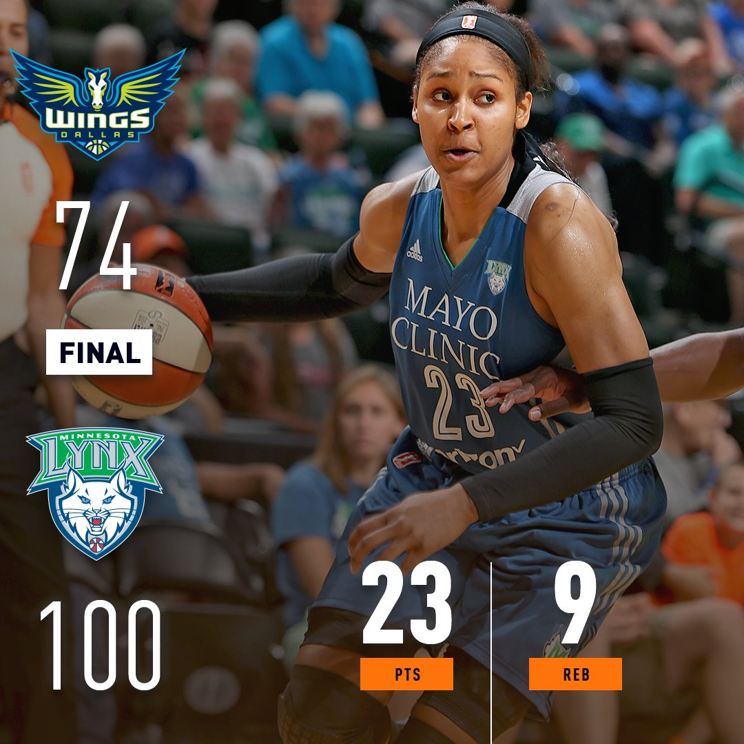 .@MooreMaya of the @minnesotalynx scores 23 PTS (9-15 from the field) to pick up the WIN! #WatchMeWork