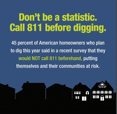 test Twitter Media - #StaySafe Don't forget to make the call to 8-1-1 to have your utility lines marked before you dig. https://t.co/EQR8gGV8ht