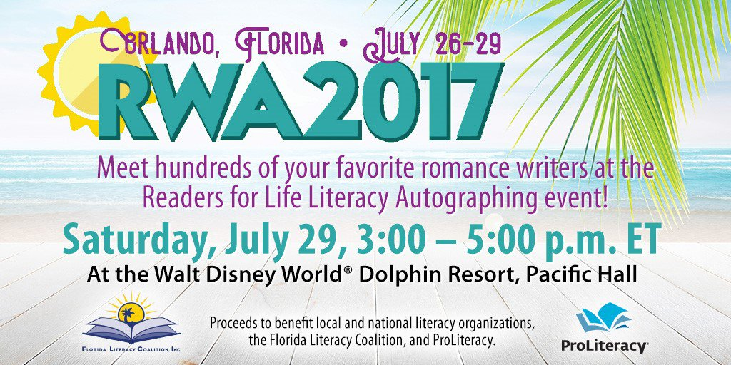 Image result for romance writers of america literacy signing