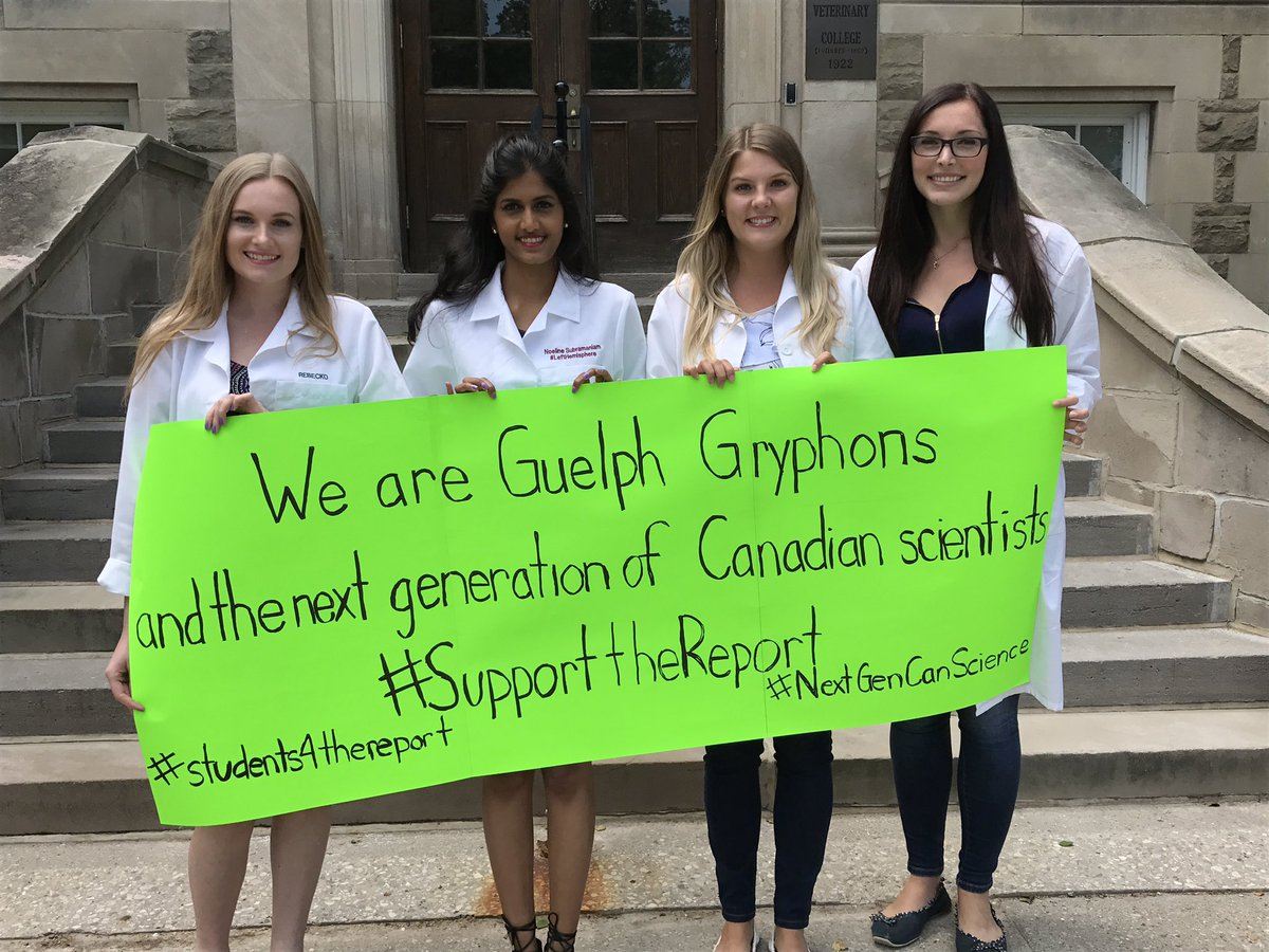 Let us Canadian scientists be at the cutting edge of groundbreaking research! #SupportTheReport #NextGenCanScience #students4thereport<br>http://pic.twitter.com/b4VHqWlxgb