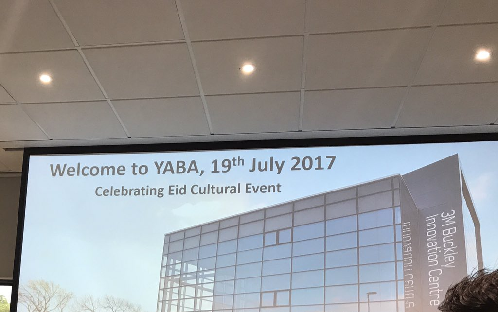 Spoke about #Eid at @yabaonline networking event at 3M Buckley #Huddersfield. Great entrepreneurs in the room @Sharonjandu12<br>http://pic.twitter.com/CTRTTTdfwL
