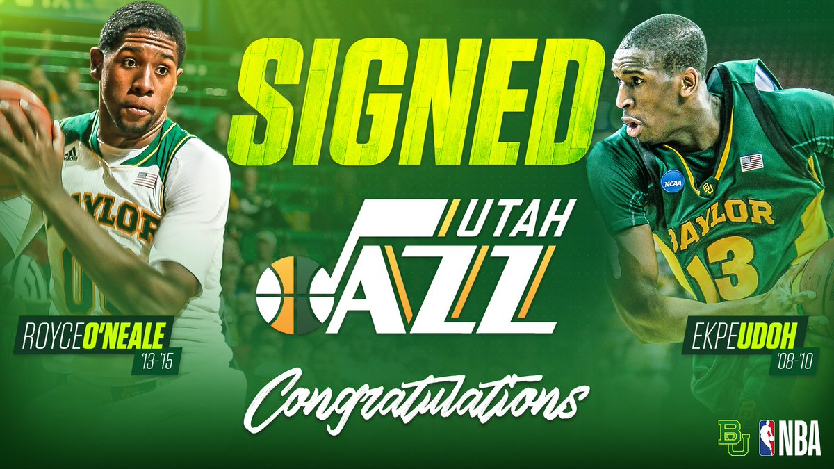 TWO Baylor grads are headed to the @utahjazz!  Congrats to @EkpeUdoh a...