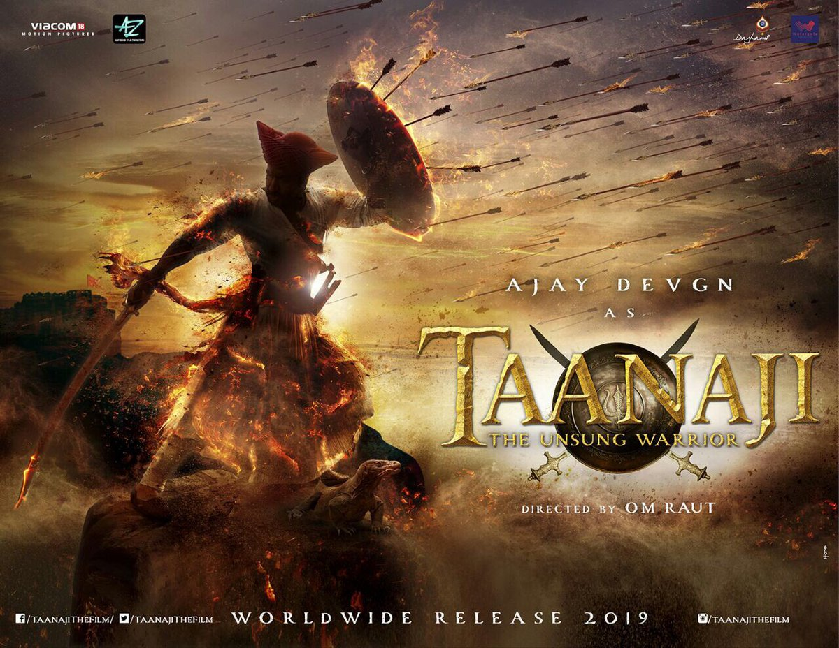 Taanaji First Look Poster starring Ajay Devgn