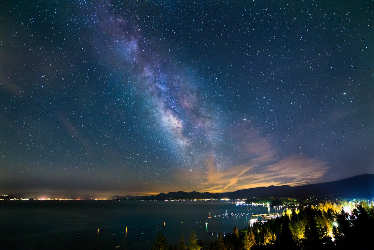 Milky Way from the North Shore in Lake Tahoe by Jake Katz #ASTRONOMY #SPACE<br>http://pic.twitter.com/TiJi9lBv3l