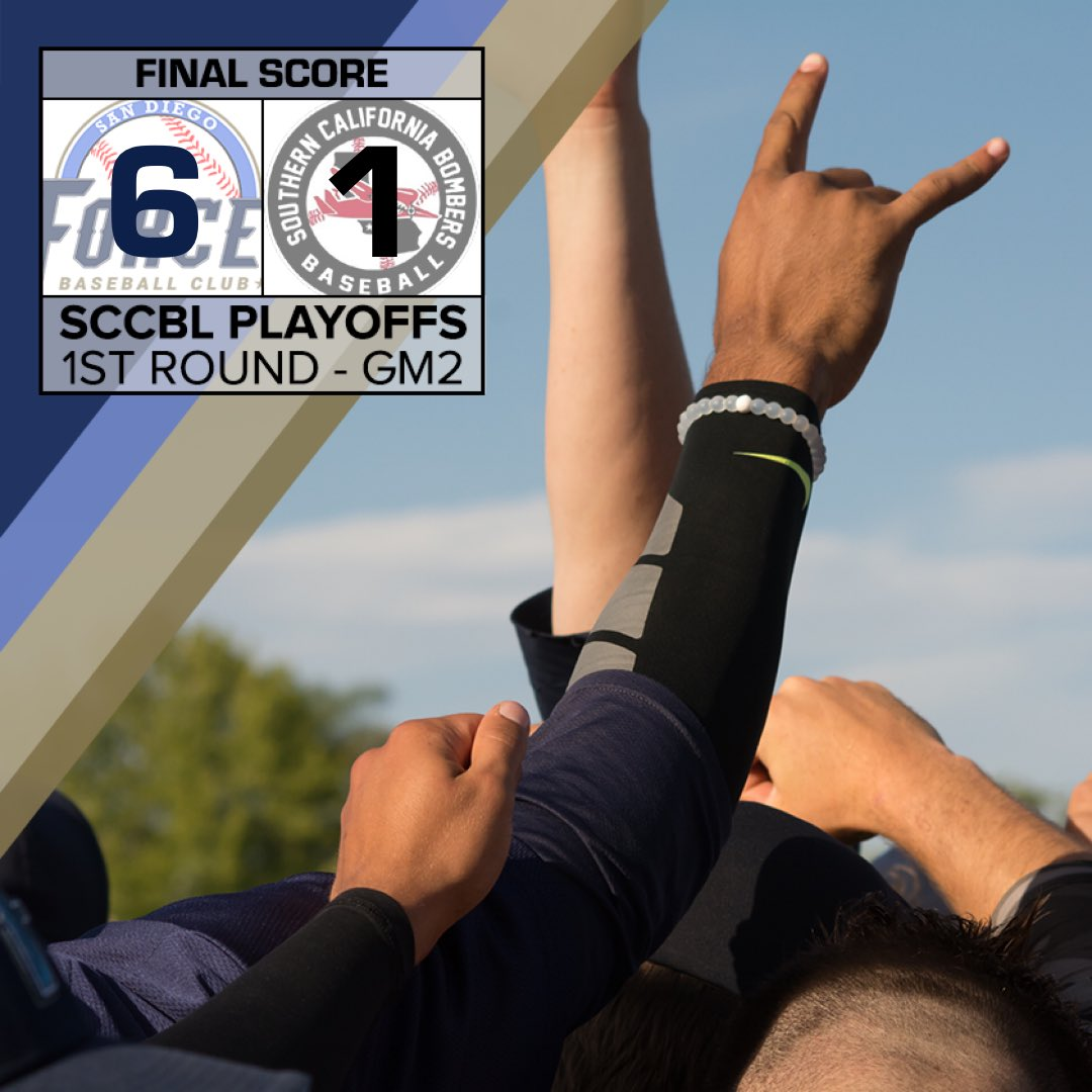 Bergandi shuts the door with a 1,2,3 9th inning and the #Force advance to the @SCCBL championship with a 6-1 win over the Bombers<br>http://pic.twitter.com/T2piisqbMD