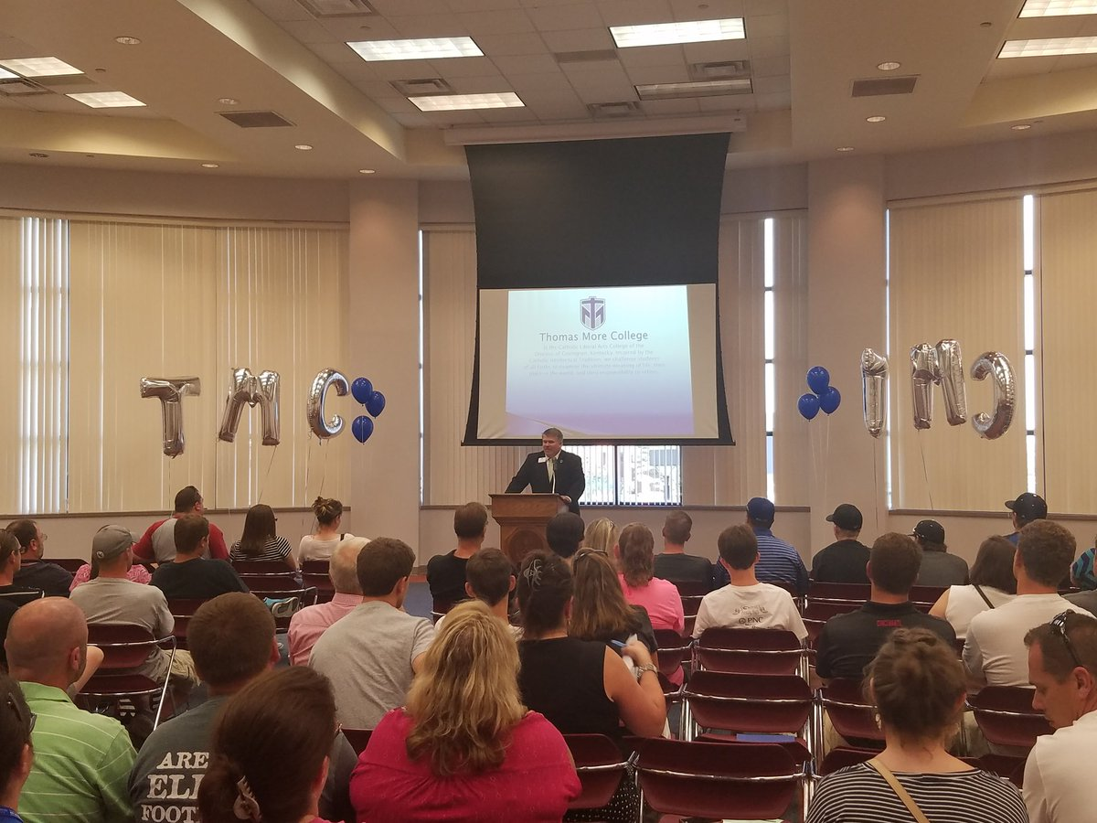 VP of Enrollment Chris Powers and @TMCJustin presenting at the Saints Splash!! @TMC_PREZ  #TMC #waveofsuccess<br>http://pic.twitter.com/64Y7T8AtWc