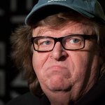 Q:  What has #MichaelMoore been doing lately? A:  Stinking.