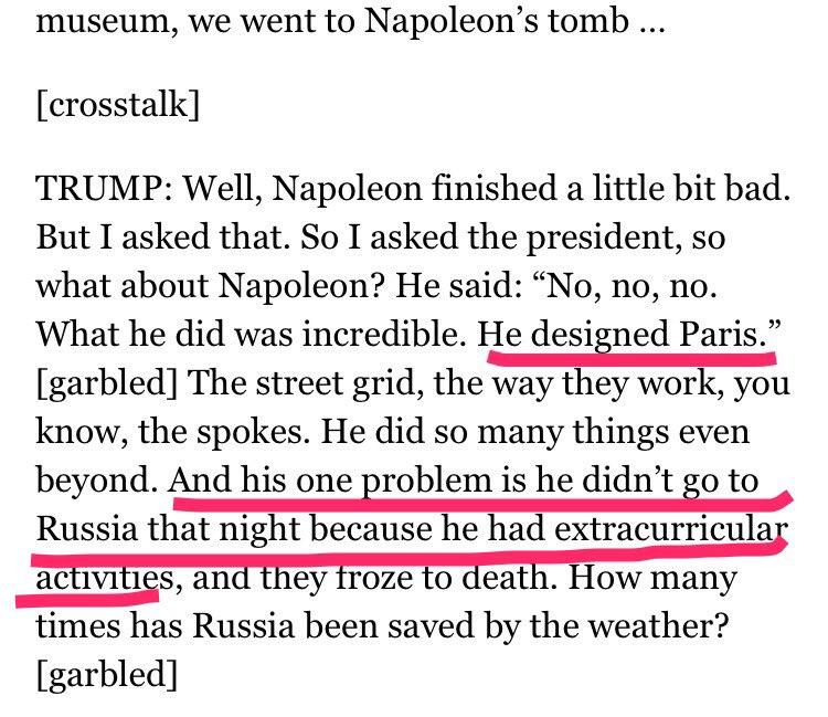 C'est à se demander si Macron ne s'est pas amusé à raconter de grosses conneries à Trump...