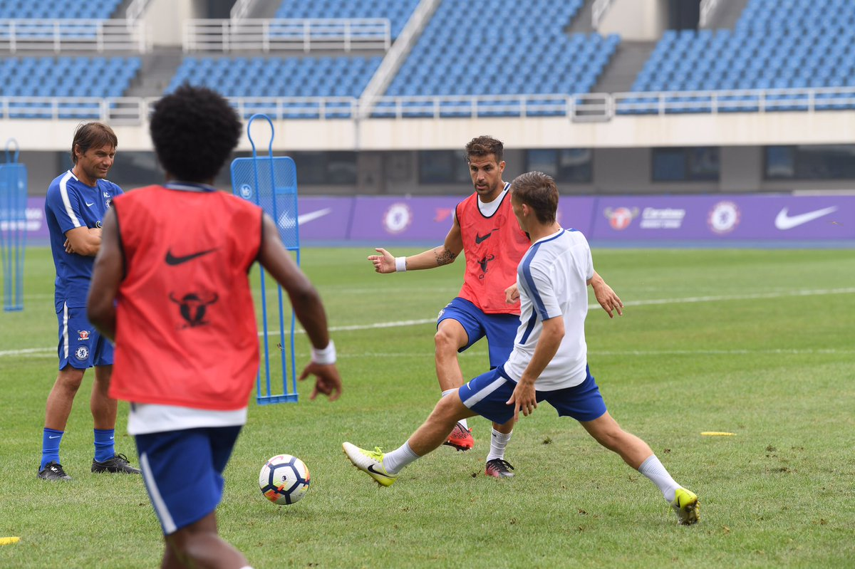 Hard work this morning. It\'s hot and humid here in Beijing. We\'ll have further updates a little later on. #CFCTour