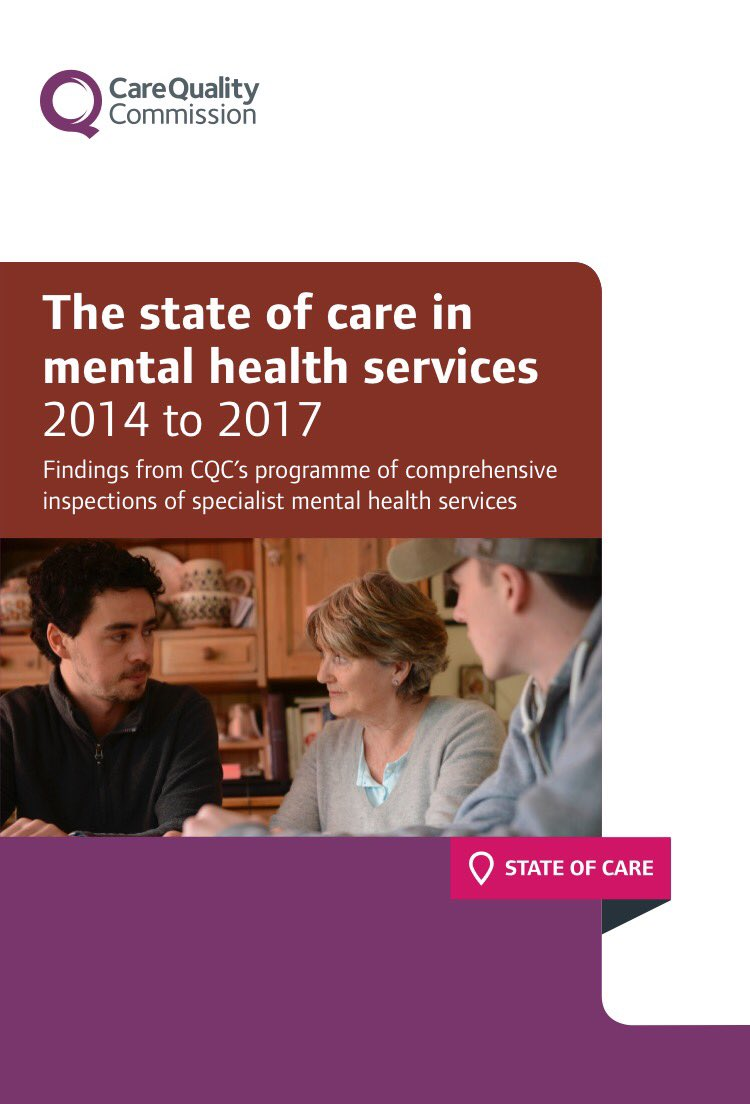 Published today: The state of care in mental health services: 2014 to 2017 https://t.co/5p7zZDYU6L #stateofmh @CareQualityComm https://t.co/U6telMqeAZ