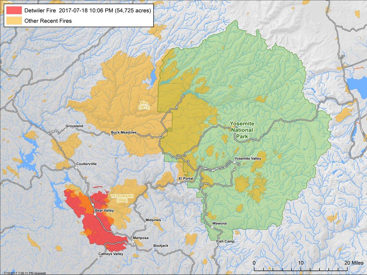 Ciimt1 On Twitter Fire History Map Around Detwilerfire Burned