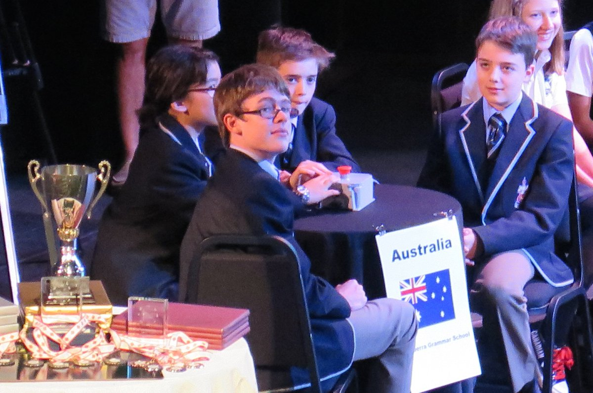 Another outstanding performance from our Kids' Lit Quiz team at the World Finals in Canada in early July... well done team and staff!