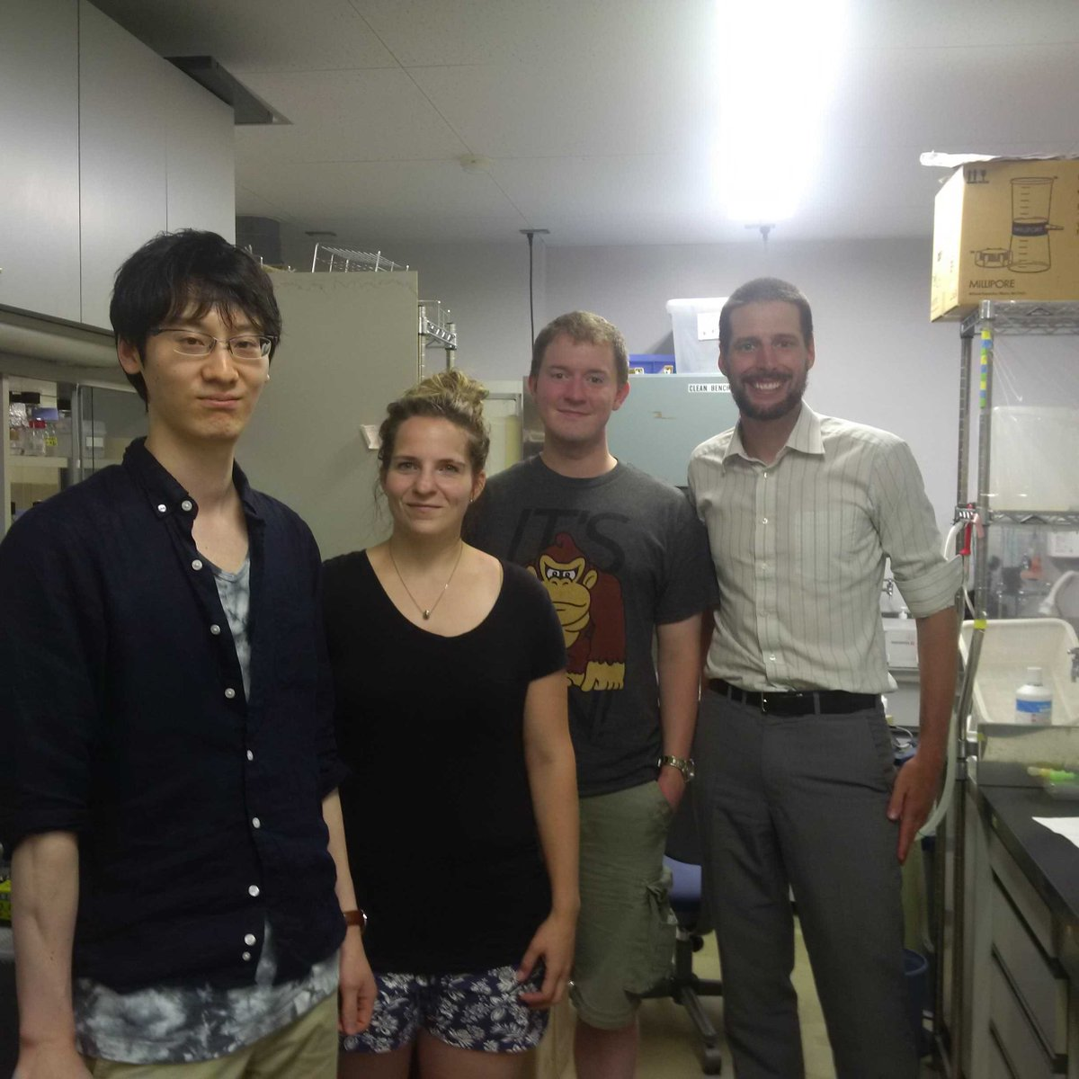 At #岩手大学 with @USask #plantscience researchers on the #JSPS summer program and a former #CJLF scholarship winner.<br>http://pic.twitter.com/ylpg5XIsRS