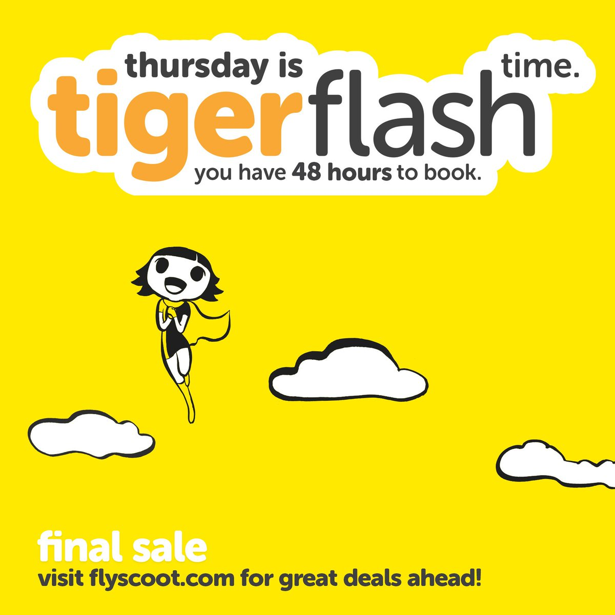 It's our final #Tigerflash before we become one with @FlyScoot! 45 destinations on sale from $38*, grab these deals https://t.co/7YShdBvF5f https://t.co/eXCg0KOeYF
