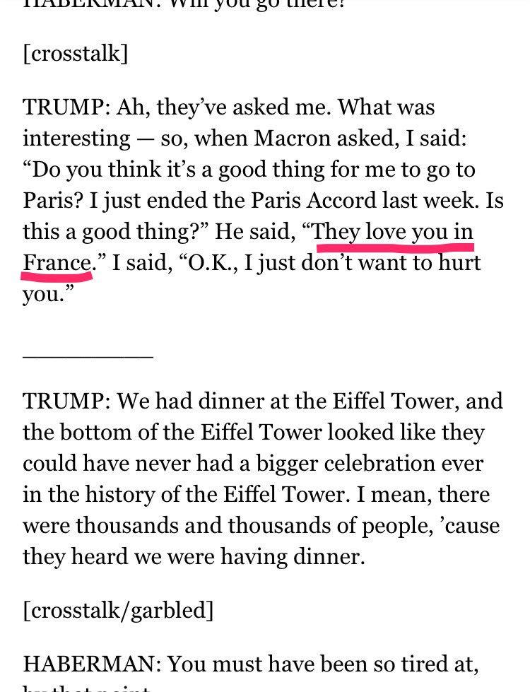 Macron gave you some fake news, buddy.