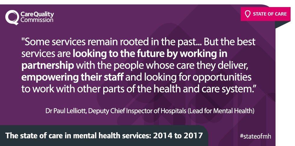 #MentalHealth at a crossroads - some services tackling challenges, others must move from out-dated care https://t.co/DdjX1EkRVZ #StateofMH https://t.co/05bx3xaUca