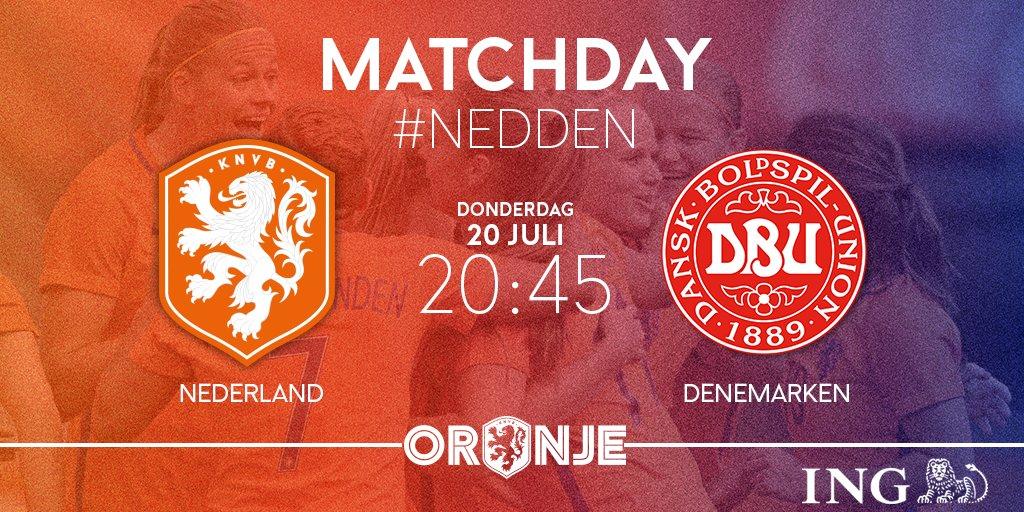 MATCHDAY!! Tijd voor de tweede poulewedstrijd tegen Denemarken. Om 20....