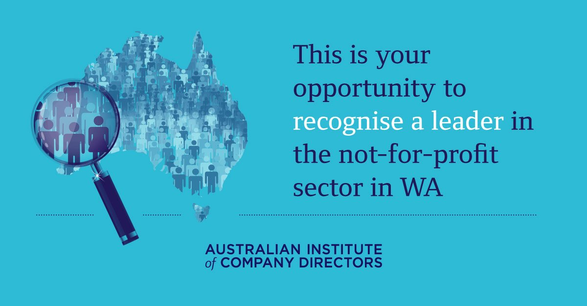 Nominations for the @PwC_Au Director award are open. Outstanding WA #NFP directors are encouraged to apply  http:// ow.ly/ZsxM30dLPQ5  &nbsp;   #NFPAu <br>http://pic.twitter.com/O9gc68wr7h