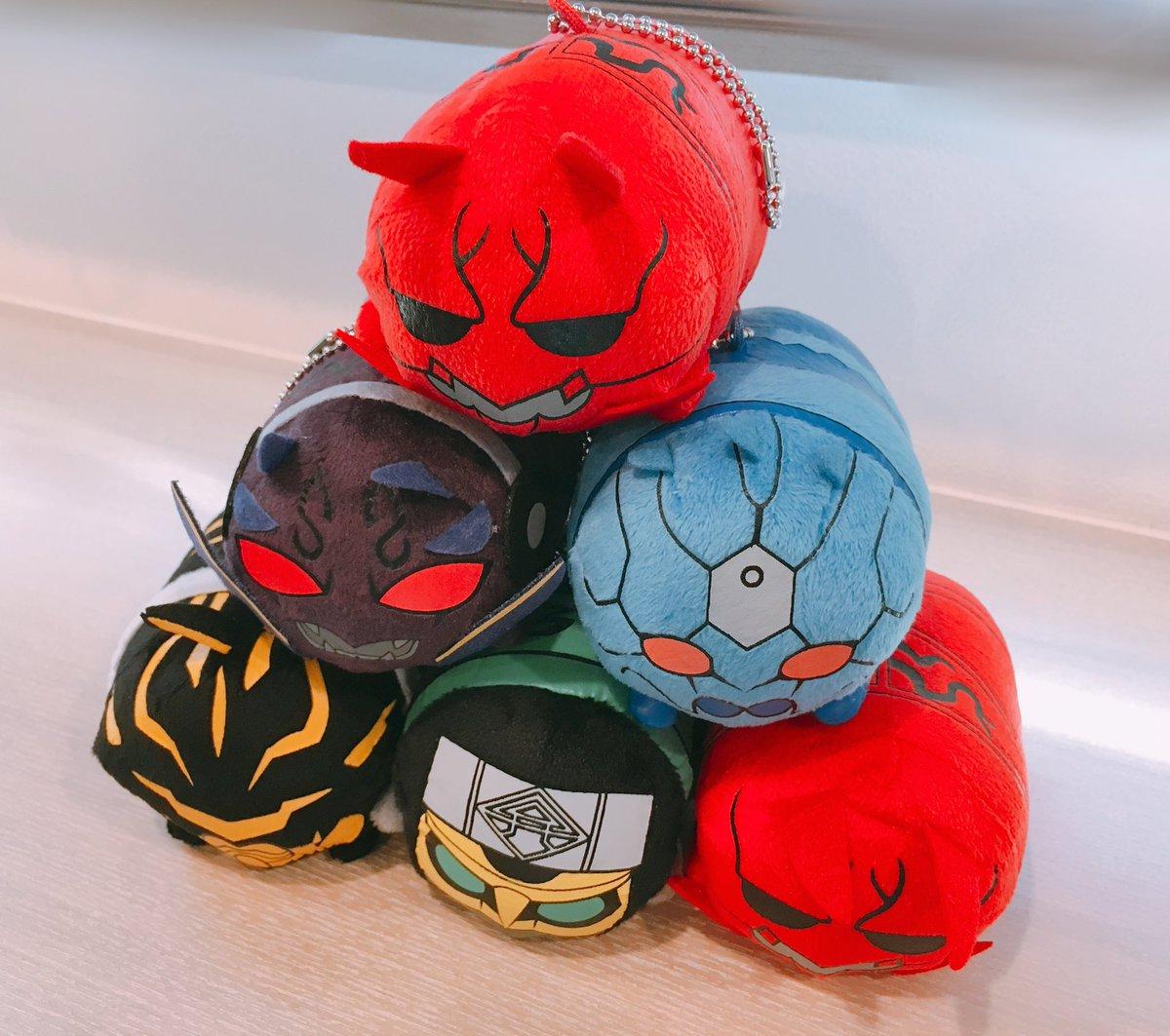 完全なる趣味ツイートなんですが、仮面ライダー電王のクリーナーマスコットが届きまして、可愛すぎて大興奮です(間違えてモモタロス2つ買ってたらしく2個届いた)【枢】