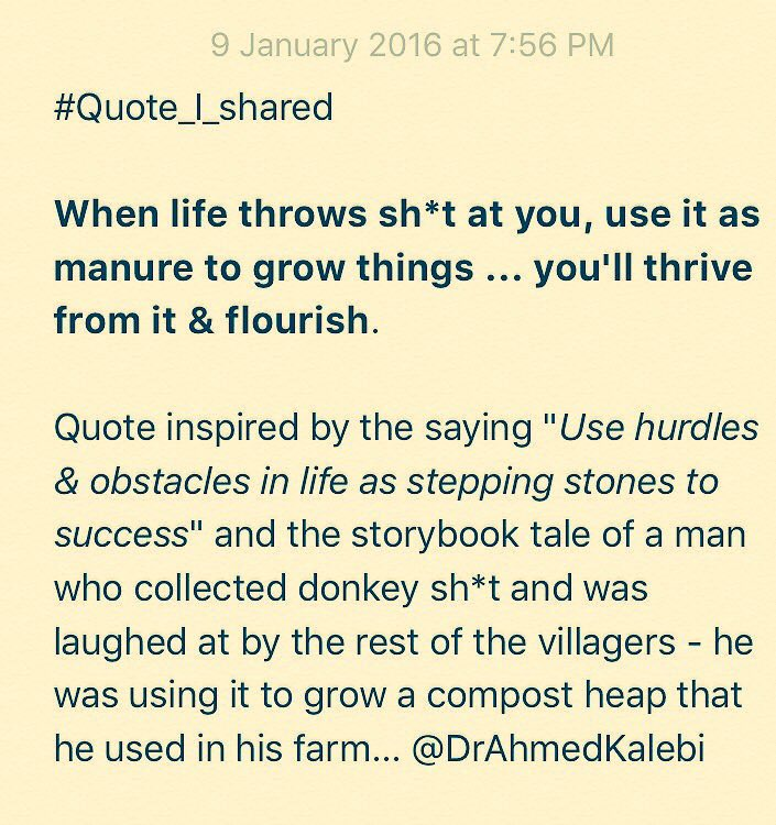 Dr Ahmed Kalebi On Twitter When Life Throws Sht At You Use It