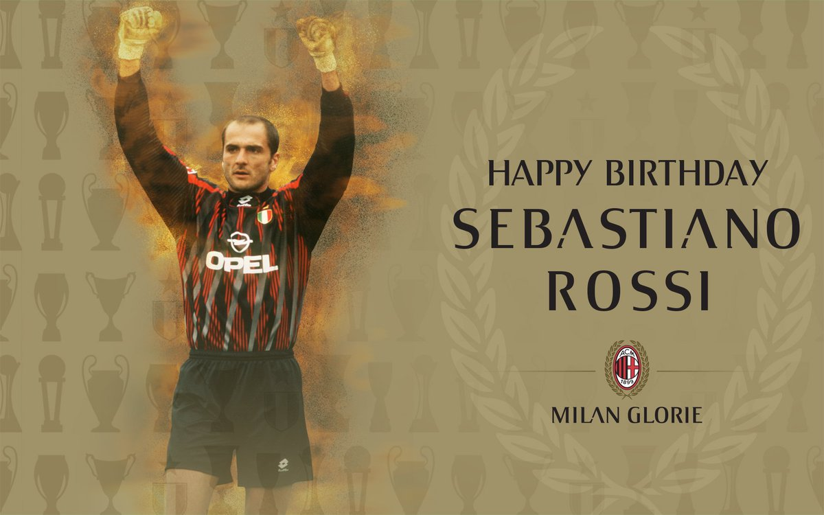 Let's all wish Sebastiano Rossi a happy 53rd birthday: have a good one Seba! Buon compleanno! 🎂🎈 #weareacmilan
