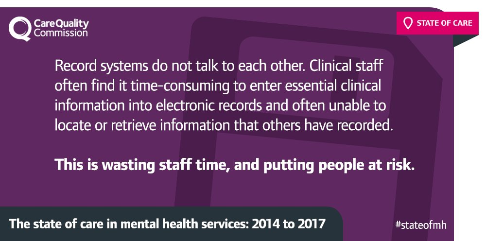 Many of the staff we talked to voiced their frustration about clinical record systems... https://t.co/DOZAd5O2Fb #StateofMH https://t.co/7CuHbyzwYq
