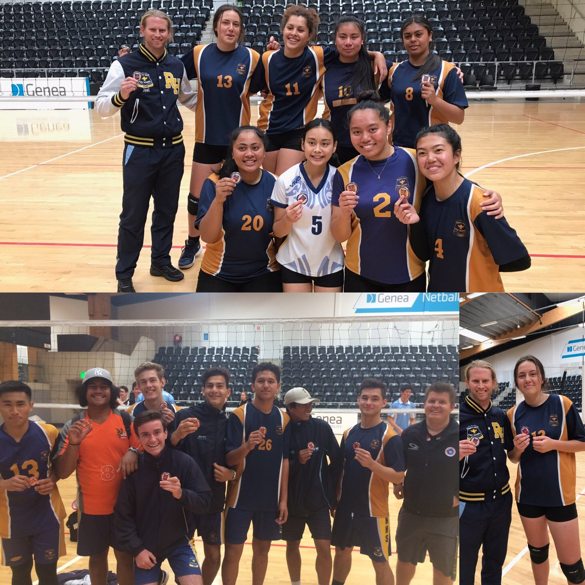 Congratulations. CHS Volleyball squads. #Gold for the girls; #bronze for the boys. Maja #MVP #Outstanding #Legacy #ThanksCoaches<br>http://pic.twitter.com/rJ1bW9Xrbb