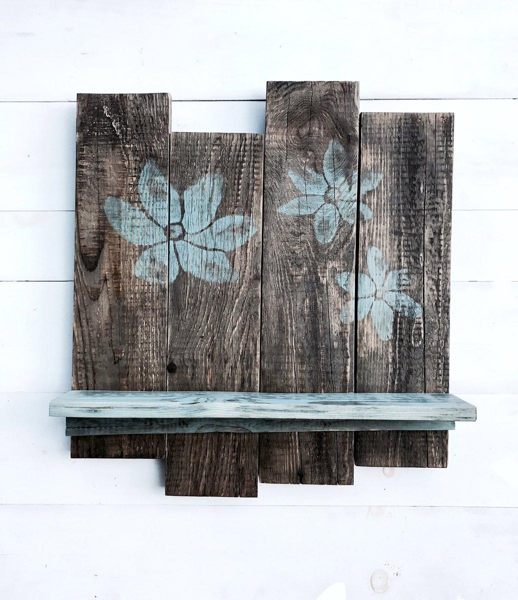 Wood Stained Flower Pallet Shelf  https://www. etsy.com/listing/545180 041/rustic-wood-shelfreclaimed-pallet?ref=shop_home_feat_4 &nbsp; …  #shelfie #Rustic #flower #art #Decor #EtsySeller #Floral #wallart #handmade #wood <br>http://pic.twitter.com/pFrbMpsGbw