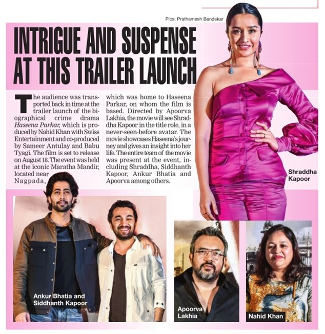 [SCAN]: Intrigue And Suspense At This Trailer Launch! @haseenamovie @ShraddhaKapoor