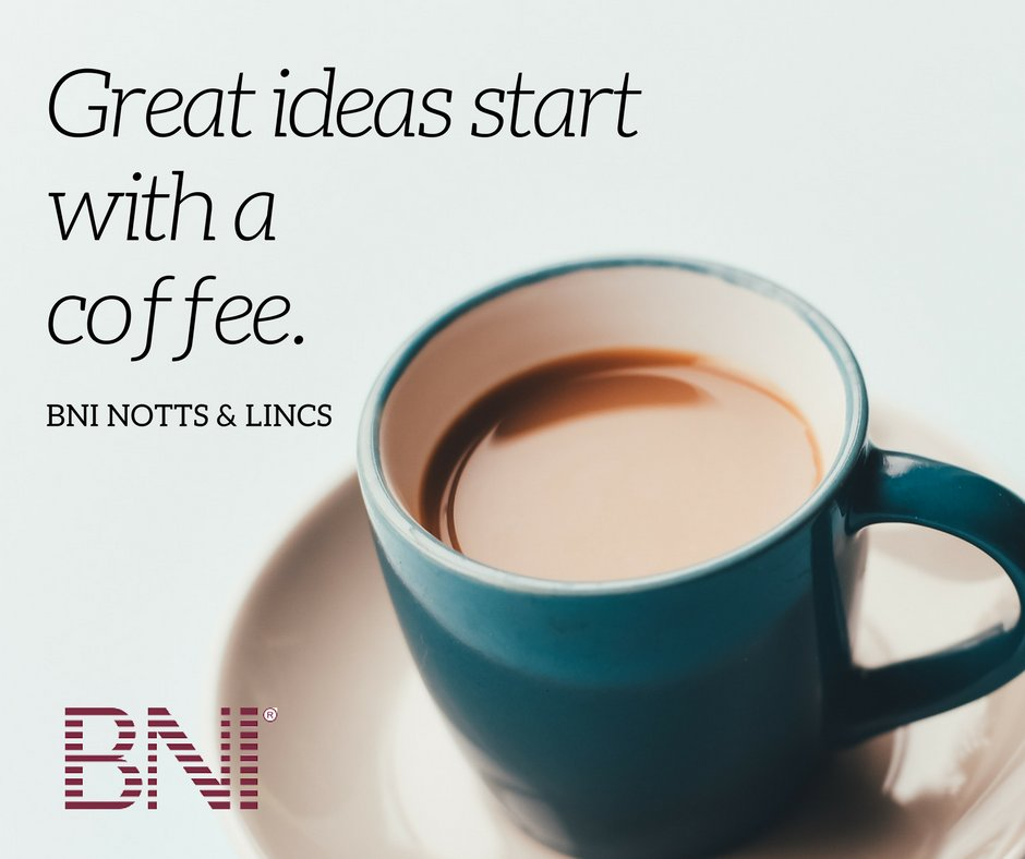 Great ideas start with a cup of coffee #BNIMornings 🙂