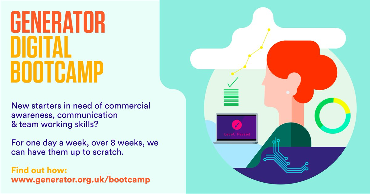 a3edf7a62425 New to the digital creative industry  Learn from 6 of the UK s best  agencies on  GeneratorNE s  Digital Bootcamp   https   generator.org.uk bootcamp  ...