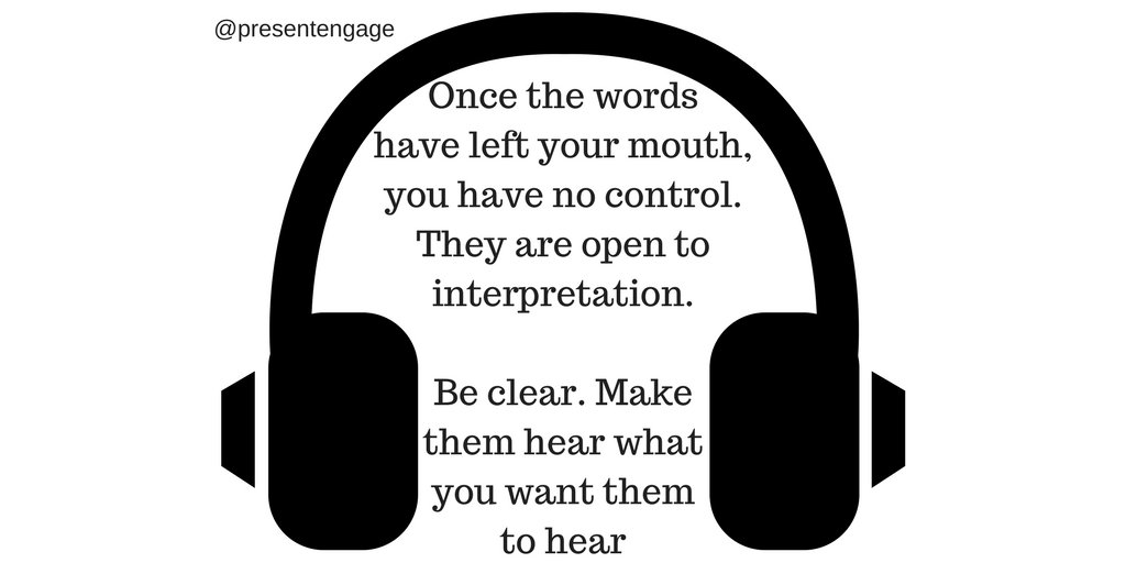 Once the words leave your mouth, you have no control over them. Be clear #presentationskills #speakingtips #publicspeaking<br>http://pic.twitter.com/ceb0RQ6Vk5