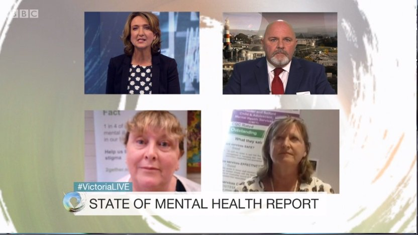 Now @VictoriaLIVE back on @CareQualityComm #stateofmh. Talking about the services that have been rated as outstanding in todays report. https://t.co/RvzZAaIEJH