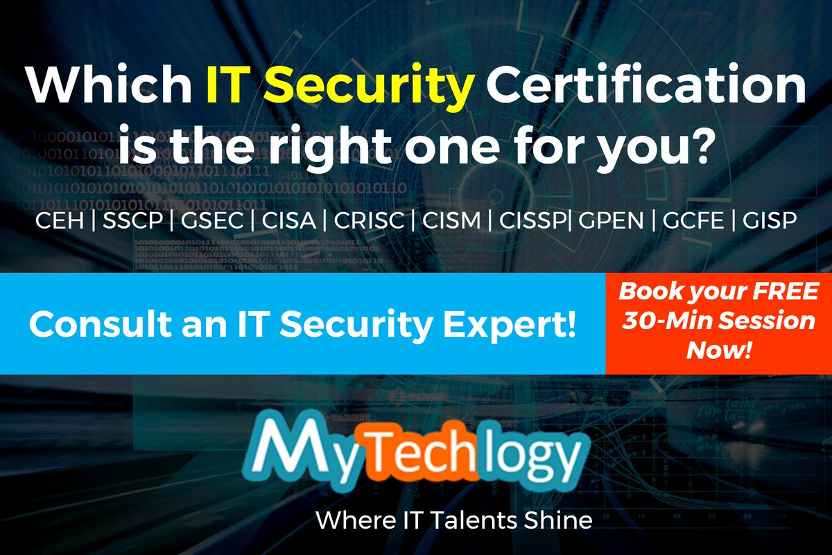 Mytechlogy on twitter which it security certification is the consult an expert to find it out httpsmytechlogyit career development servicescareer coachesmax boedder 1betcityfo Image collections